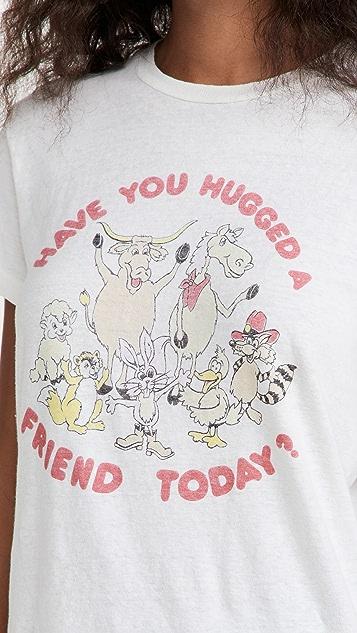 RE/DONE 70s Loose Tee Hug A Friend