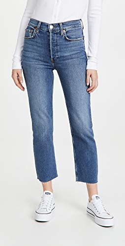 RE/DONE - High Rise Stove Pipe Jeans