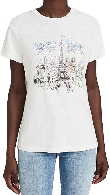 RE/DONE 70s Paris France 宽松 T 恤