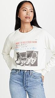 RE/DONE Beatles Classic Raglan Crewneck Hold You Sweatshirt