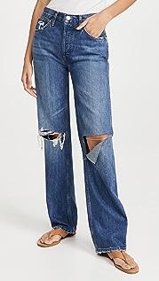RE/DONE 90 年代复古风格高腰宽松牛仔裤