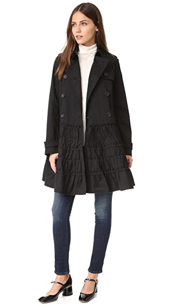 RED Valentino Ruffle Trench Coat