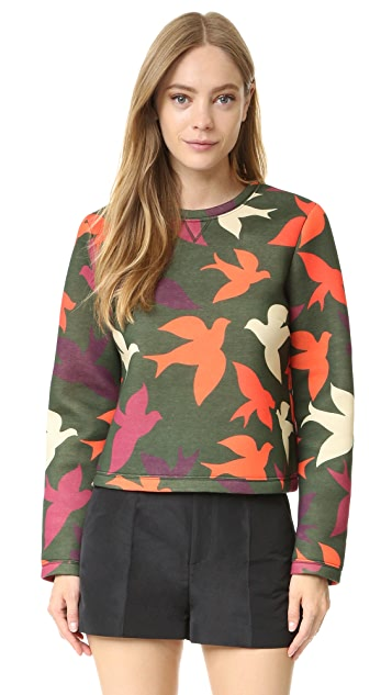 RED Valentino Scuba Crop Sweatshirt