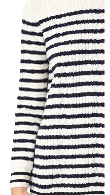 RED Valentino Ruffle Bottom Sweater Dress