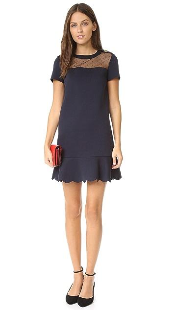 RED Valentino Short Sleeve Scuba Dress