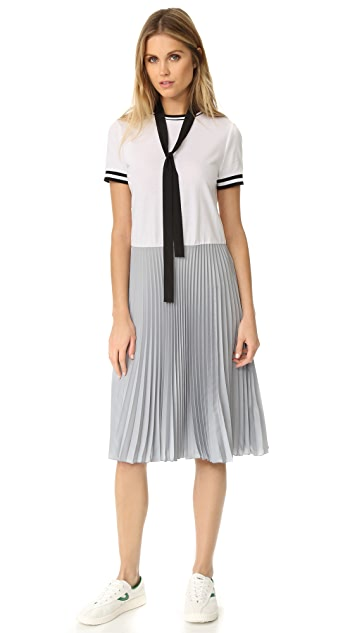 RED Valentino Colorblock Pleated Dress