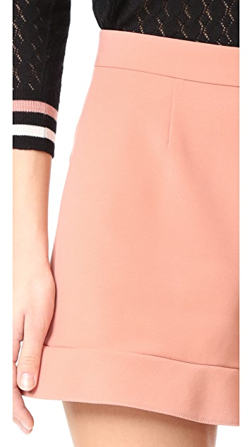 RED Valentino Ruffle Shorts