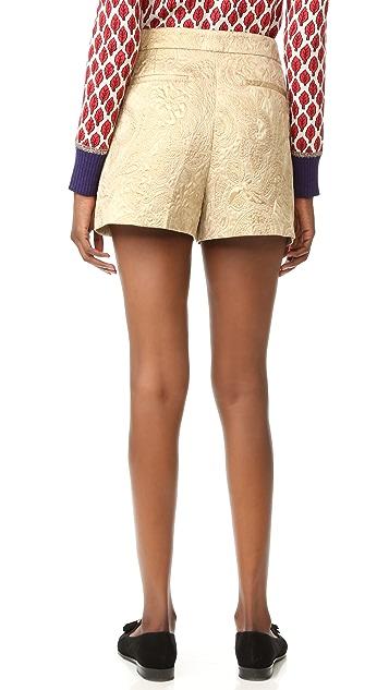 RED Valentino Jacquard Tapered Shorts