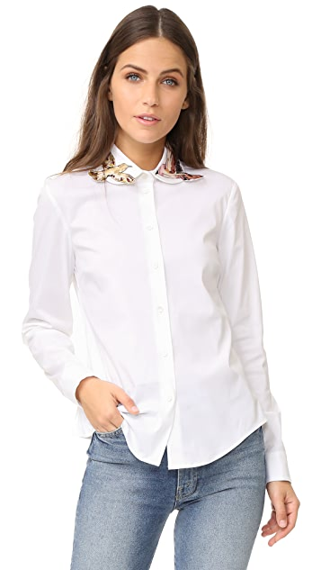RED Valentino Embroidered Button Down