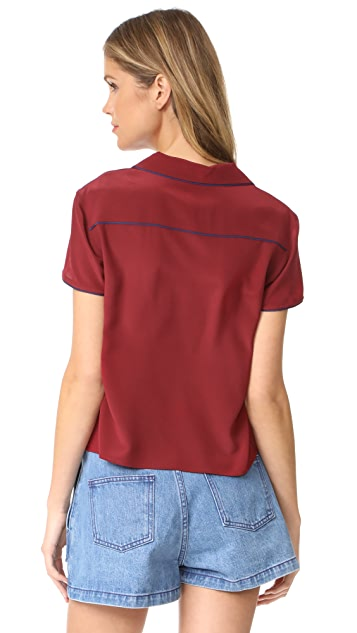 RED Valentino Short Sleeve Blouse
