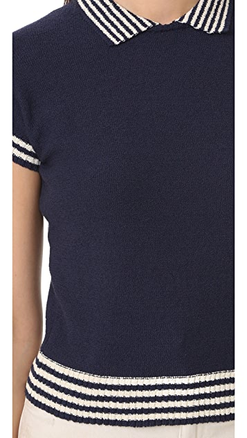 RED Valentino Short Sleeve Sweater