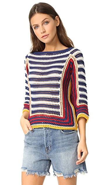 RED Valentino Colorblock Sweater