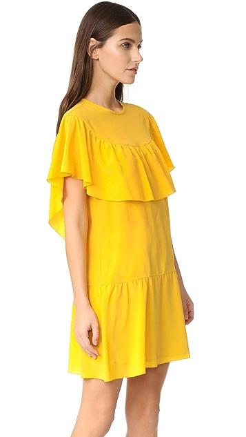 RED Valentino Ruffle Dress