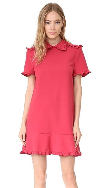 RED Valentino Collared Short Sleeve Dress