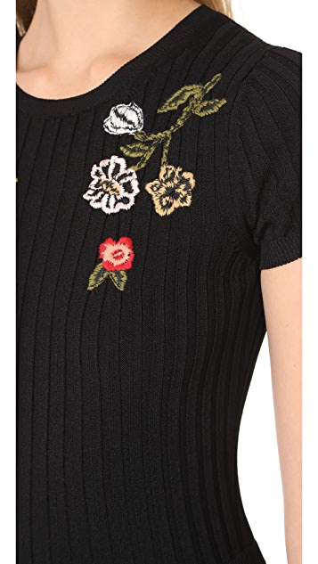 RED Valentino Embroidered Dress