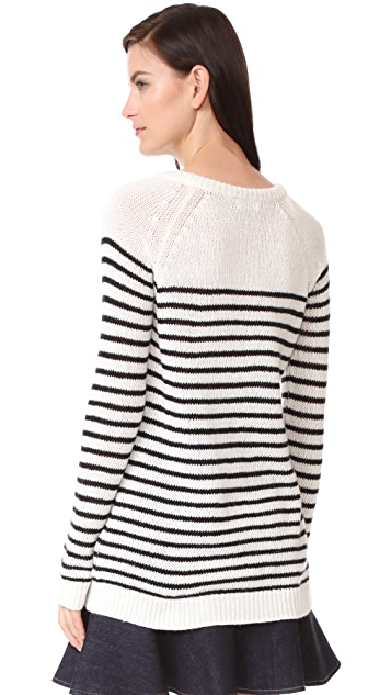 RED Valentino Tie Neck Sweater