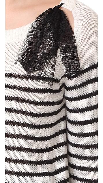 RED Valentino Tie Neck Sweater