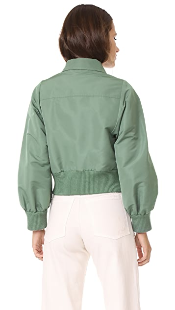 RED Valentino Cropped Bomber Jacket