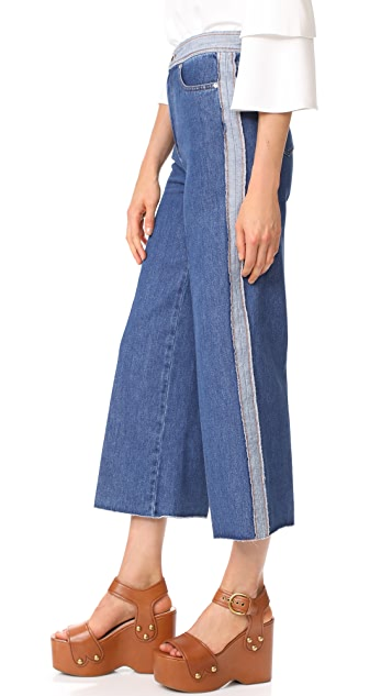 RED Valentino Cropped Wide Leg Jeans