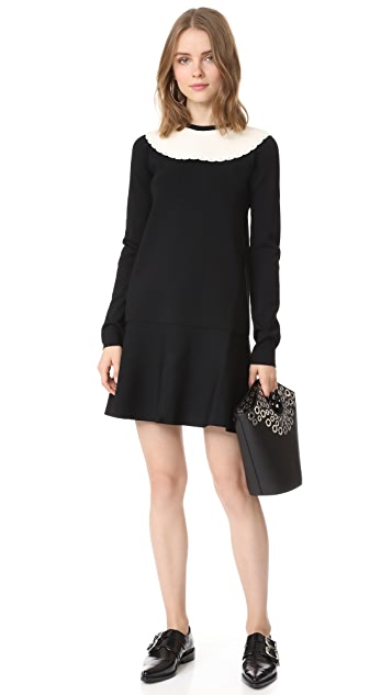 RED Valentino Scallop Neck Dress