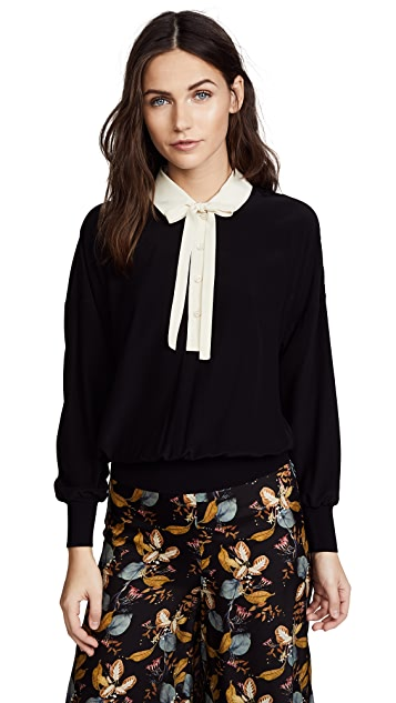 RED Valentino Collared Tie Blouse