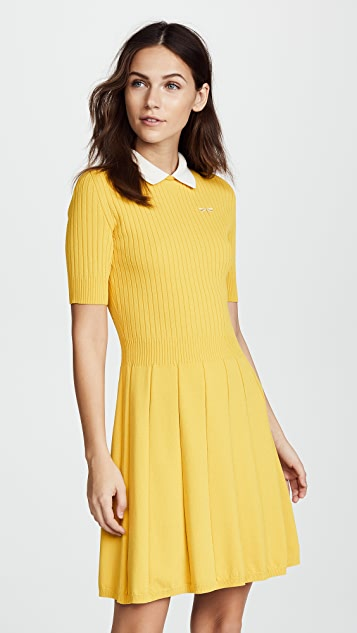 Collared Flare Dress by Red Valentino