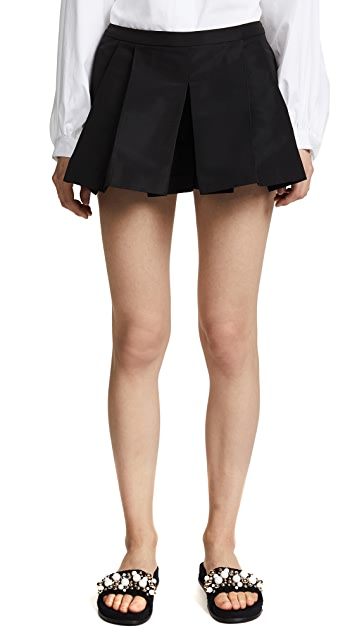 RED Valentino Pleat Shorts