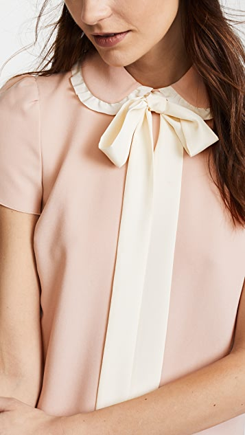 RED Valentino Collared Tie Neck Dress