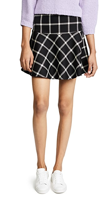 RED Valentino Plaid Skirt
