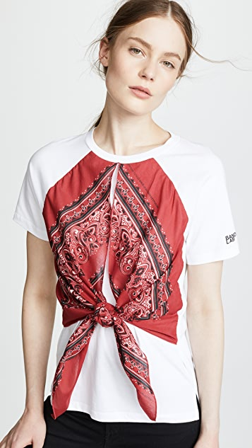 RED Valentino Bandana Tee - Bianco/Cherry