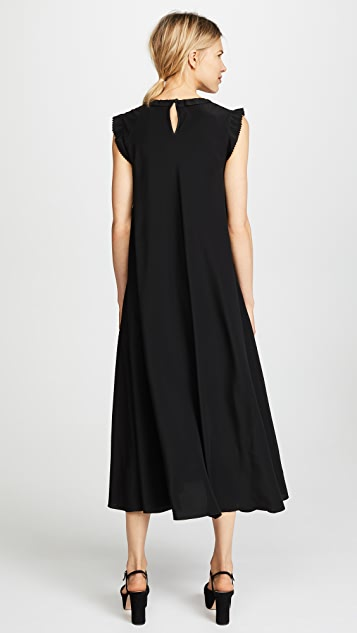 RED Valentino Black Midi Dress