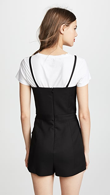 RED Valentino Button Front Romper