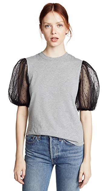 RED Valentino Balloon Sleeve Tee