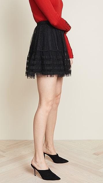 RED Valentino Textured Mini Skirt