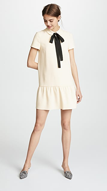 RED Valentino Bow Tie Collared Dress