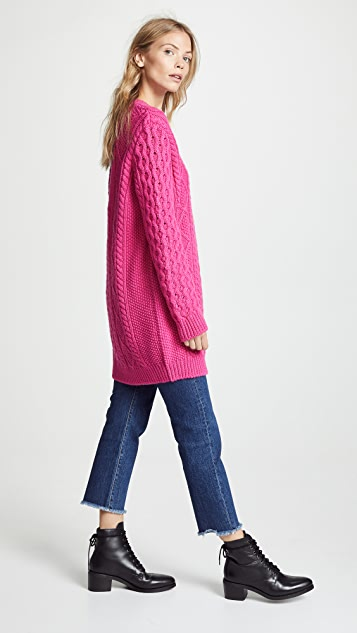 RED Valentino Oversized Chunky Sweater