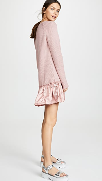 RED Valentino Платье с заниженной талией и отделкой из тафты