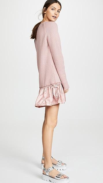 RED Valentino Drop Waist Dress with Taffeta