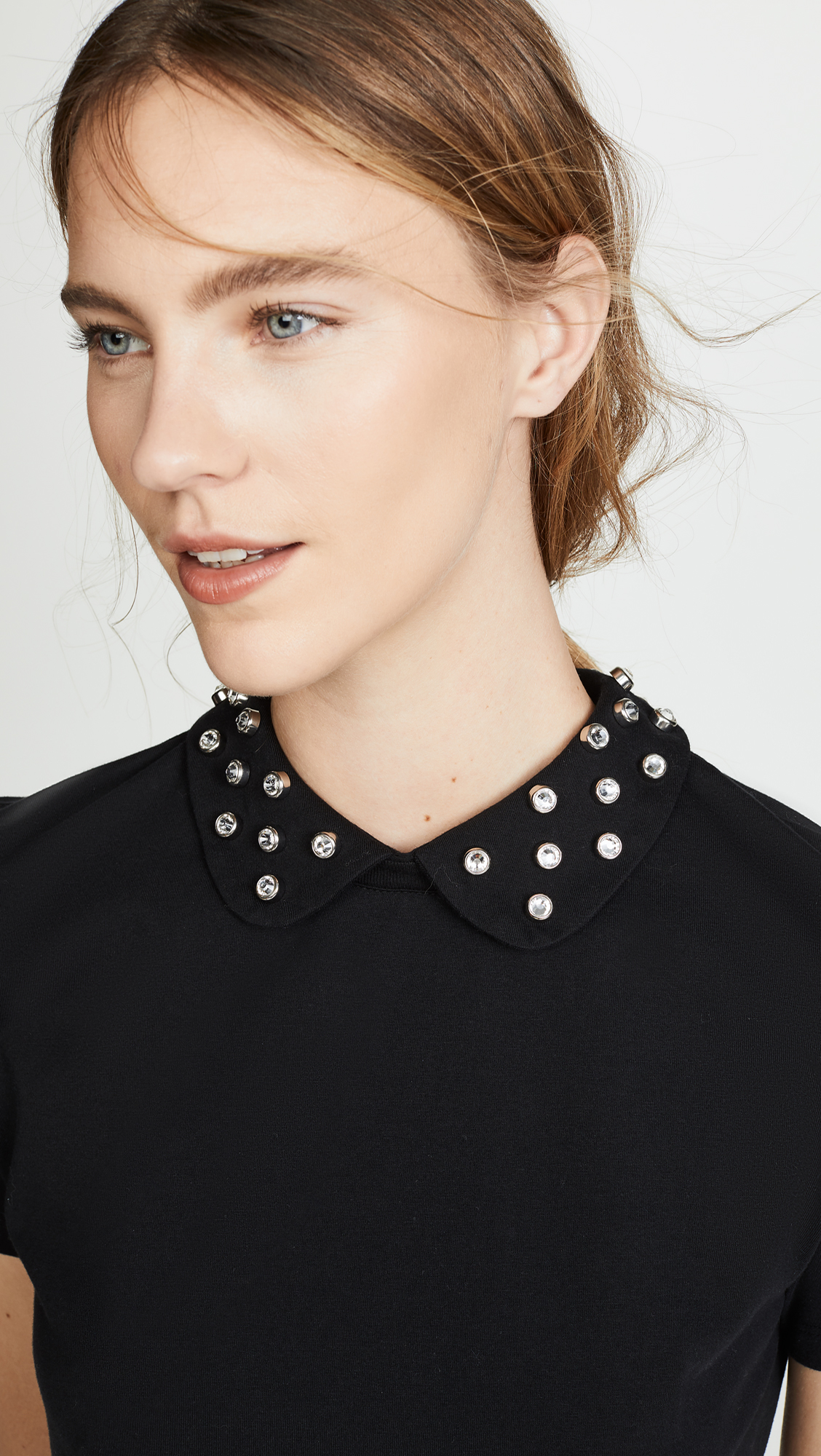 RED Valentino Embellished Collar Blouse