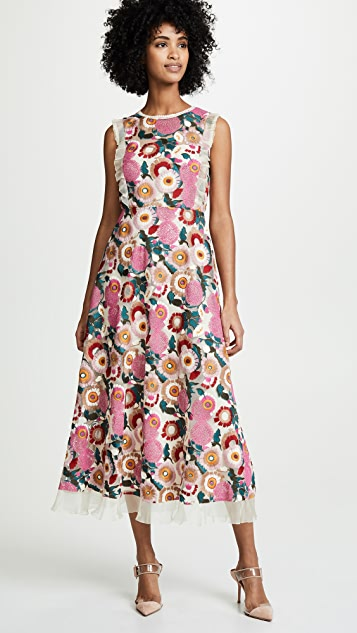 RED Valentino Floral Midi Dress