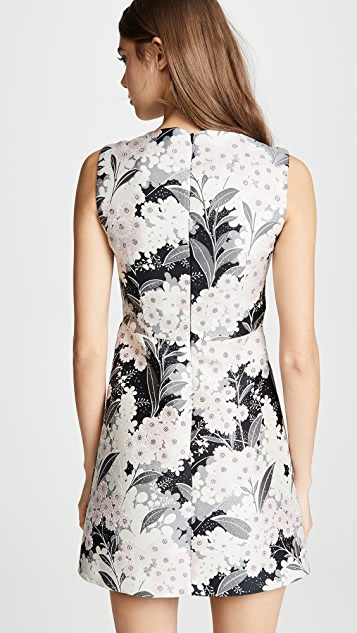 RED Valentino Floral Mini Shift Dress