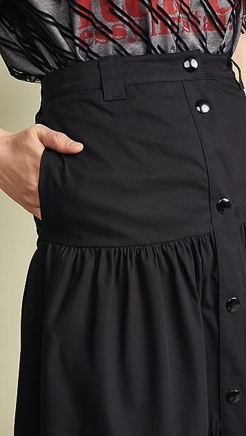 RED Valentino 正面钮扣裙