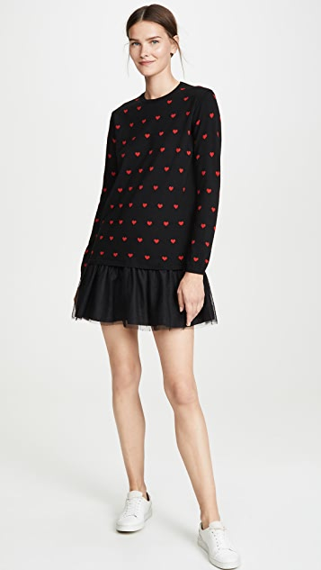 RED Valentino Трикотажное платье Heart