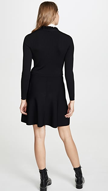 RED Valentino Knit Tie Neck Dress
