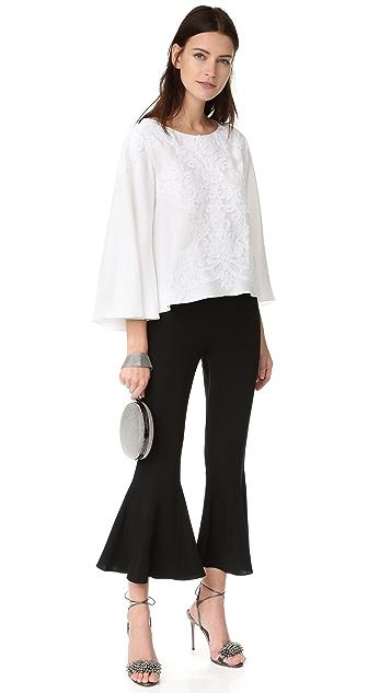 Reem Acra Bell Sleeve Top