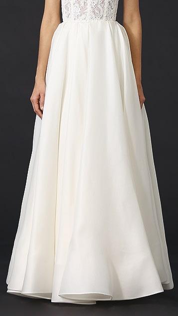 Reem Acra Pleated Ball Skirt