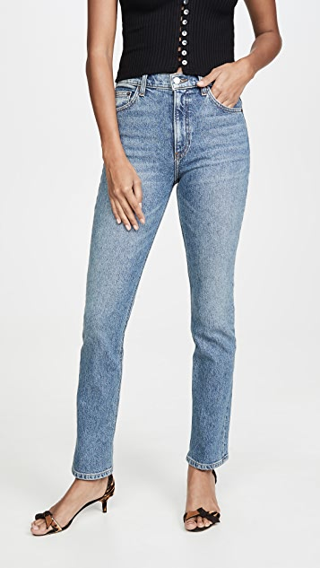 Reformation Liza High Straight Jeans