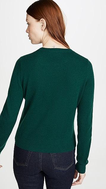 Reformation Кашемировый свитер с округлым вырезом