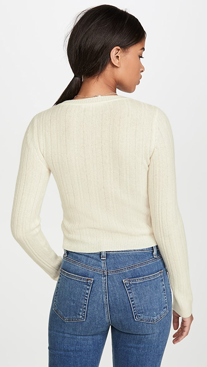 Reformation Cropped Crew Neck Cashmere Sweater | SHOPBOP