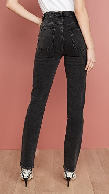 Reformation Liza High Straight Button Fly Jeans